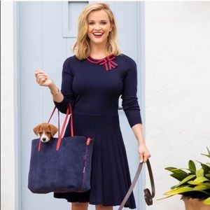NWT Draper James Sailor Bow Sweater Dress